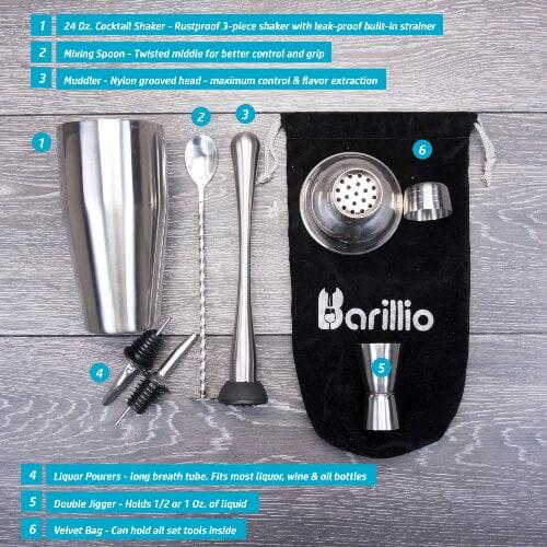 cocktail shaker set bar tools
