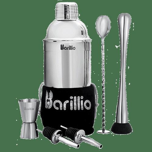 cocktail shaker set silver