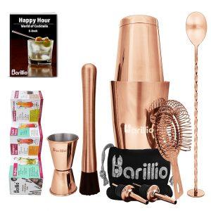 Cocktail Shaker Set: Boston Shaker (Rose-Copper)