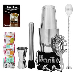 Barillio Elite Boston Cocktail Shaker Set (Silver)