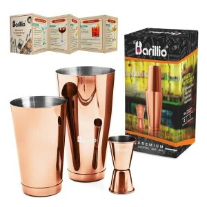 Barillio Elite Boston Cocktail Shaker (Rose-Copper)