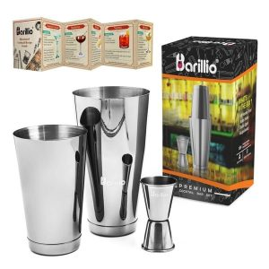 Barillio Elite Boston Cocktail Shaker (Silver)