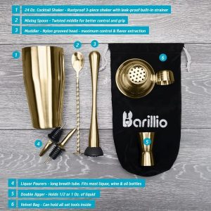 Barillio Elite Cocktail Shaker Set (Gold)