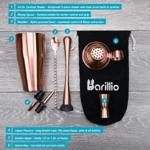 Barillio Elite Cocktail Shaker Set (Rose-Copper)