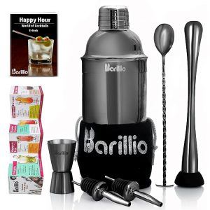 Barillio Elite Cocktail Shaker Set (Black)