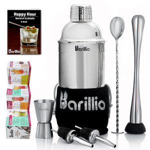 Barillio Elite Cocktail Shaker Set (Silver)
