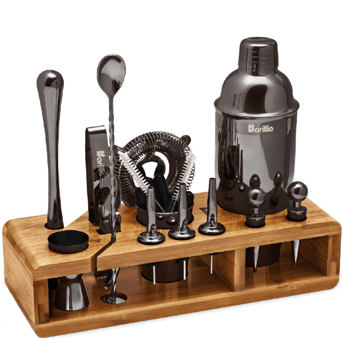 bartender kit silver black