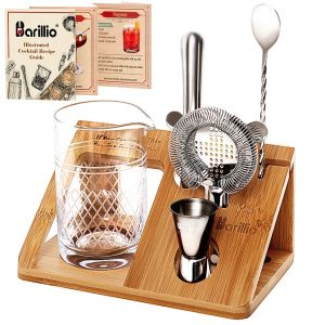 Barillio Crystal Cocktail Mixing Glass Set