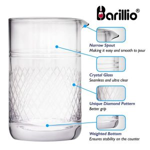 Barillio Crystal Cocktail Mixing Glass