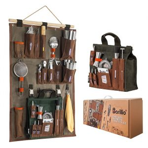 Barillio Bartender Wall Organizer With Bar Tools
