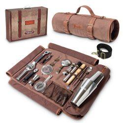 Travel Bartender Kit With Canvas Bag